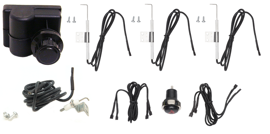 Electronic 4-Outlet Ignition Assembly Kit #CUI114-A